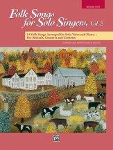 FOLK SONGS FOR SOLO SINGERS V 2 (BOOK)