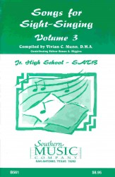 Songs For Sight-Singing Vol 3 Jh SATB