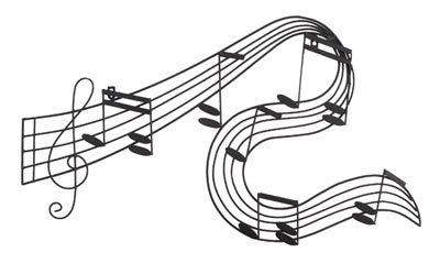 Wall Hanging: Music Staff Wavy Sheet Music (SKU: W64571 ...