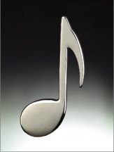 Magnet: 8th Note Silver