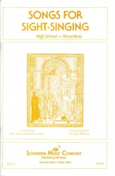 Songs For Sight Singing High Sch TB