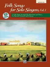 FOLK SONGS FOR SOLO SINGERS V 1 (BK/CD)