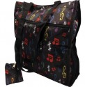 Tote: Black Tote With Multi Color Notes