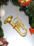 Ornament: Gold Tuba