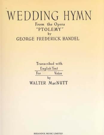Wedding Hymn Sheet Music By Walter Macnutt SKU DER1288