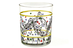 Glass Tumbler: Hand Printed