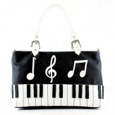 Purse: Keyboard (White Handle)
