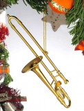 Ornament: Gold Trombone