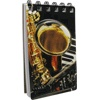 Notepad: 3d Jazz Saxophone and Keyboard