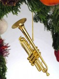 Ornament: Gold Trumpet