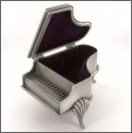 Jewelry Box: Grand Piano (Pewter)