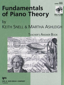 Fundamentals of Piano Theory Lev 3 Answe