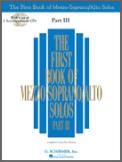 First Book of Mezzo Soprano Solos III