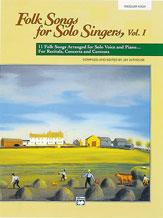 FOLK SONGS FOR SOLO SINGERS V 1 (BOOK)