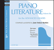 Piano Literature Vol 6 CD