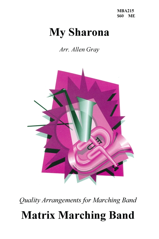 My Sharona Sheet Music by Allen Gray (SKU: MBA215) - Stanton's Sheet ...